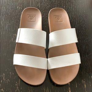 Reef Womens Sandals Vista   Vegan Leather Slides